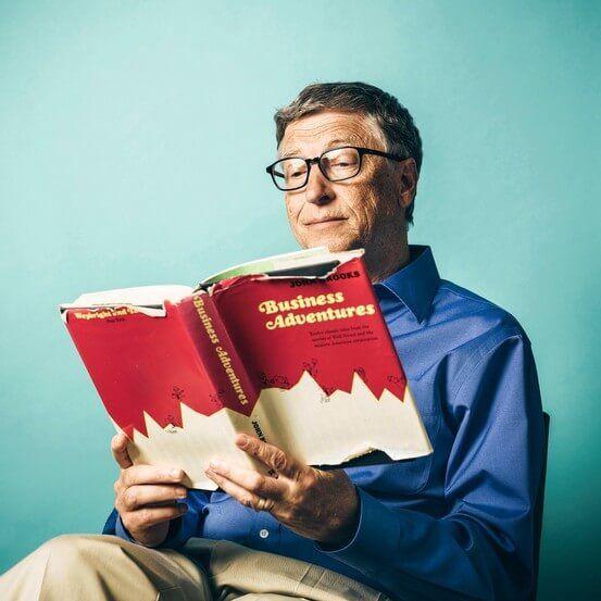 Bill Gates LEyendo